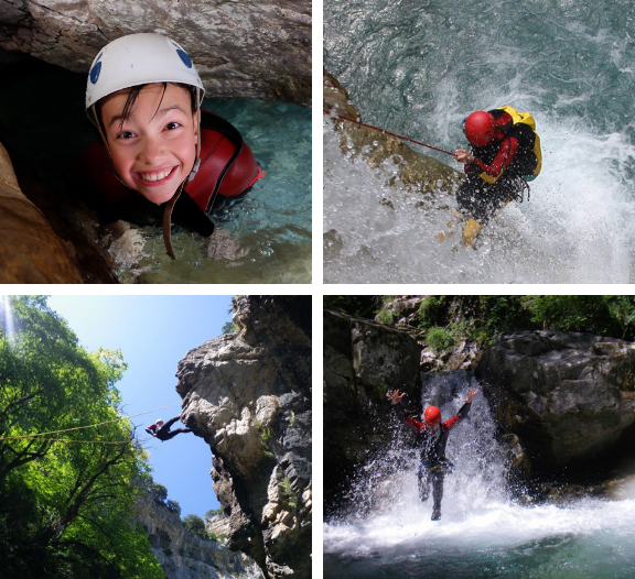 collage-canyoning